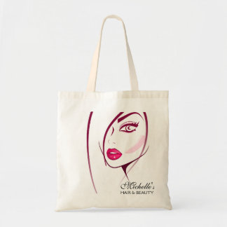 Girl Face Beautician Make-up artist Budget Tote Bag