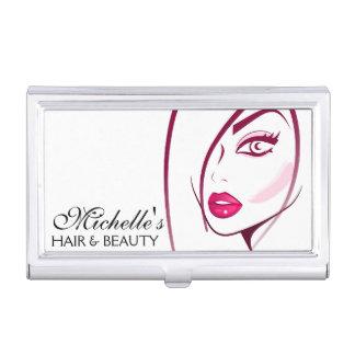 Girl Face Beautician Make-up artist Business Card Case