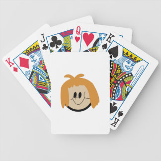 Girl Face Bicycle Playing Cards