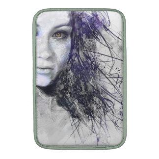 Girl Face Eyes Hair Drawing MacBook Air Sleeve