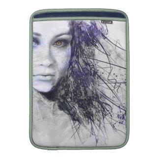 Girl Face Eyes Hair Drawing Sleeves For MacBook Air