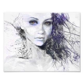 Abstract Face Art & Framed Artwork | Zazzle