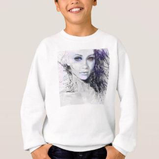 Girl Face Eyes Hair Drawing Sweatshirt
