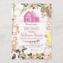 Girl Farm Baby shower Invitation