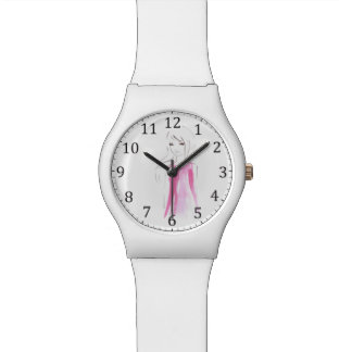 Girl Fashion Illustration Custom Wrist Watch
