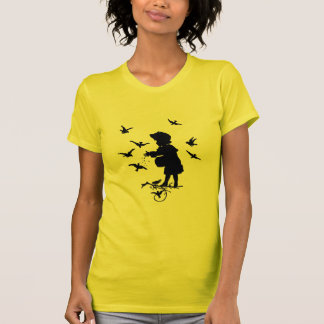 Girl Feeding The Birds T-Shirt