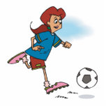 girl female playing soccer graphic photo cut outs