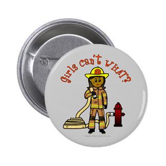 Girl Firefighter Pinback Buttons