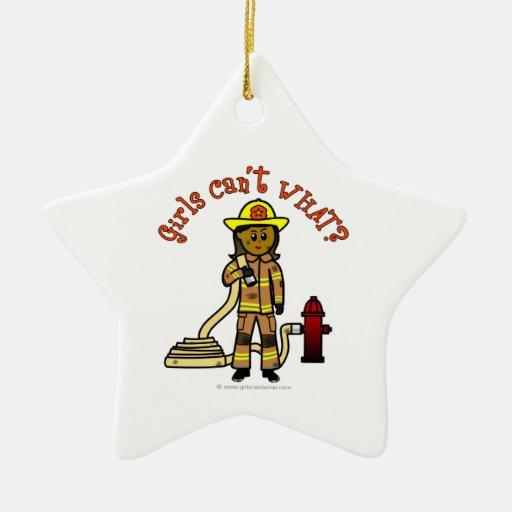 Girl Firefighter Christmas Tree Ornament