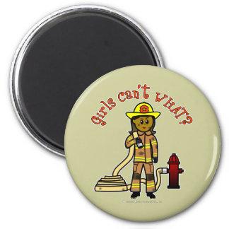 Girl Firefighter Fridge Magnet