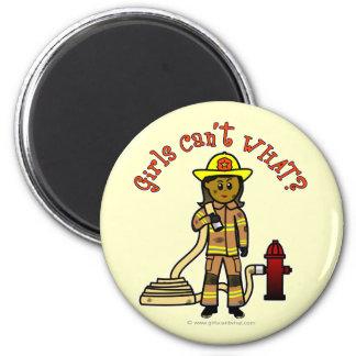 Girl Firefighter Fridge Magnets