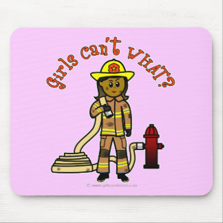 Girl Firefighter Mouse Pad