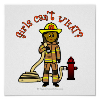 Girl Firefighter Posters