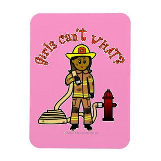 Girl Firefighter Rectangle Magnets