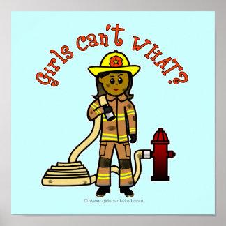Girl Firefighter Print