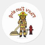 Girl Firefighter Sticker
