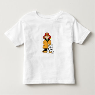 Girl Firefighter with Dalmation Shirt