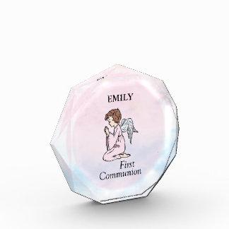 Girl, First Communion Angel Acrylic Award