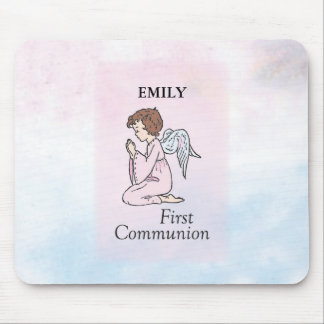 Girl, First Communion Angel Mouse Pad