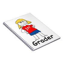 Girl First Grader Notebook