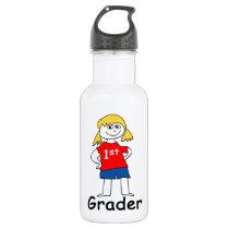 Girl First Grader Water Bottle