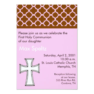 Girl First Holy Communion Invitation