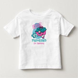 Girl Fisherman In Training Toddler T-shirt