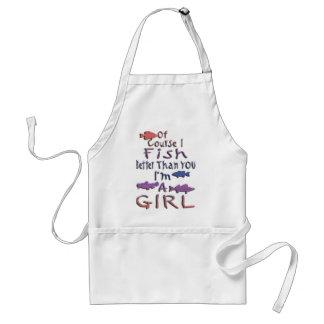 GIRL FISHING ADULT APRON