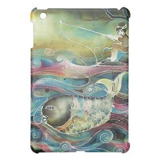 Girl Fishing at Night Cover For The iPad Mini