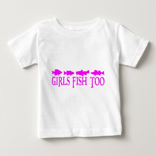 GIRL FISHING BABY T-Shirt