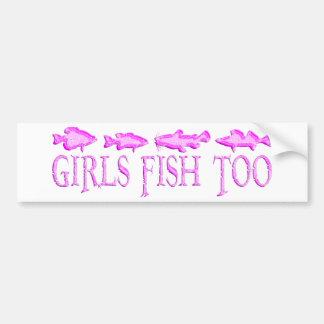 GIRL FISHING BUMPER STICKERS