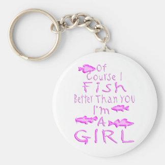 GIRL FISHING KEYCHAIN