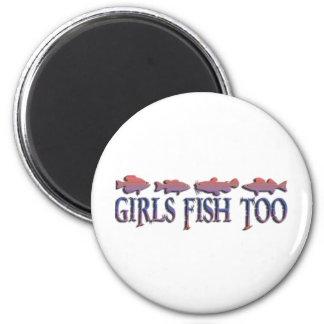 GIRL FISHING MAGNET