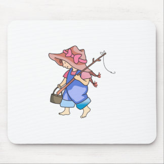 GIRL FISHING MOUSE PADS
