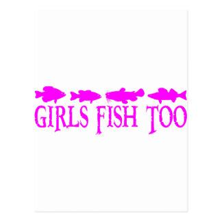 GIRL FISHING POSTCARD