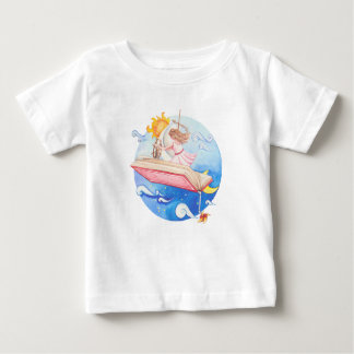 Girl flying book baby T-Shirt