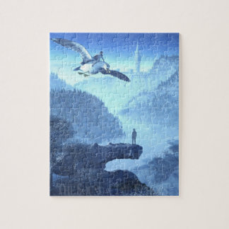 Girl Flying on Bird Puzzle