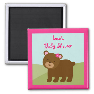 Girl Forest Animal Party Favor Magnets