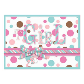 Girl FP Gift Tag Large Business Card