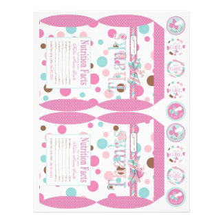 Girl FP Party Favor Box Template B Flyer