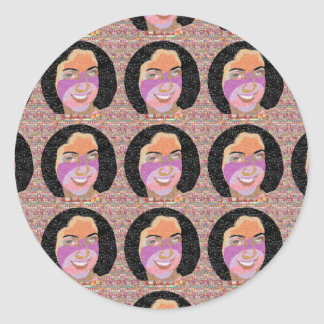 Girl FRIDAY Gifts Classic Round Sticker