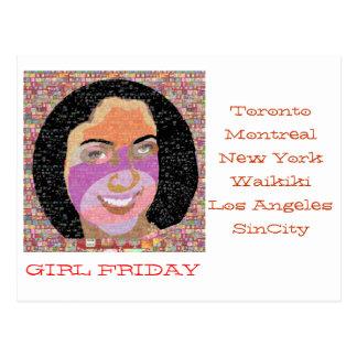 Girl FRIDAY Gifts Postcard