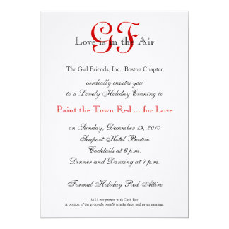 Girl Friends Night Out Invitations Red