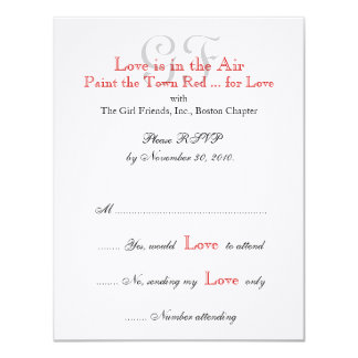 Girl Friends Night Out RSVP Cards