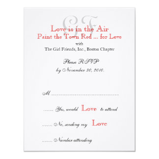 Girl Friends Night Out RSVP Cards 2
