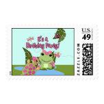 Girl FROG Birthday Invitation Postage#2 HFG Stamps