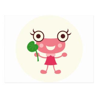 Girl Frog Postcard