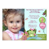 Girl Froggy/FROG birthday invitation (photo) pond