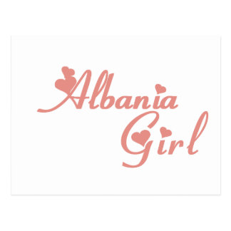 Girl from Albania Postcard