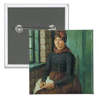 Girl from Fano, 1834 Pinback Button